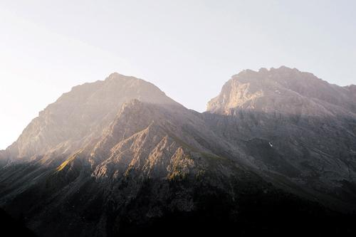 I awoke to the sound of the Swiss cow bells and the mountains on fire with the morning sun.