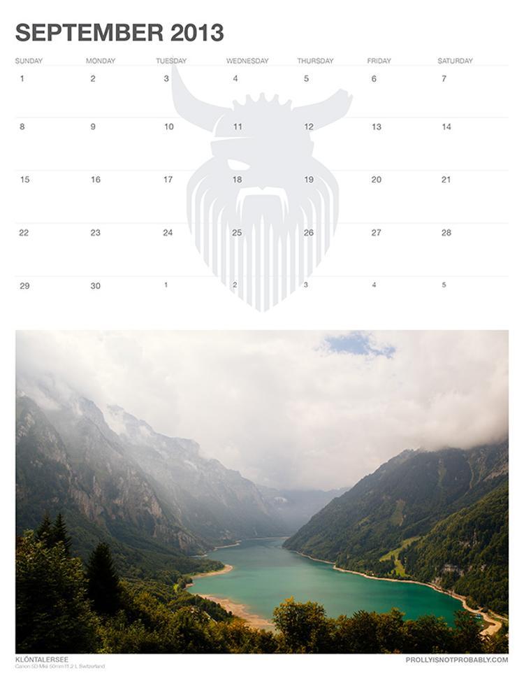 The 2013 PiNP Calendar: September