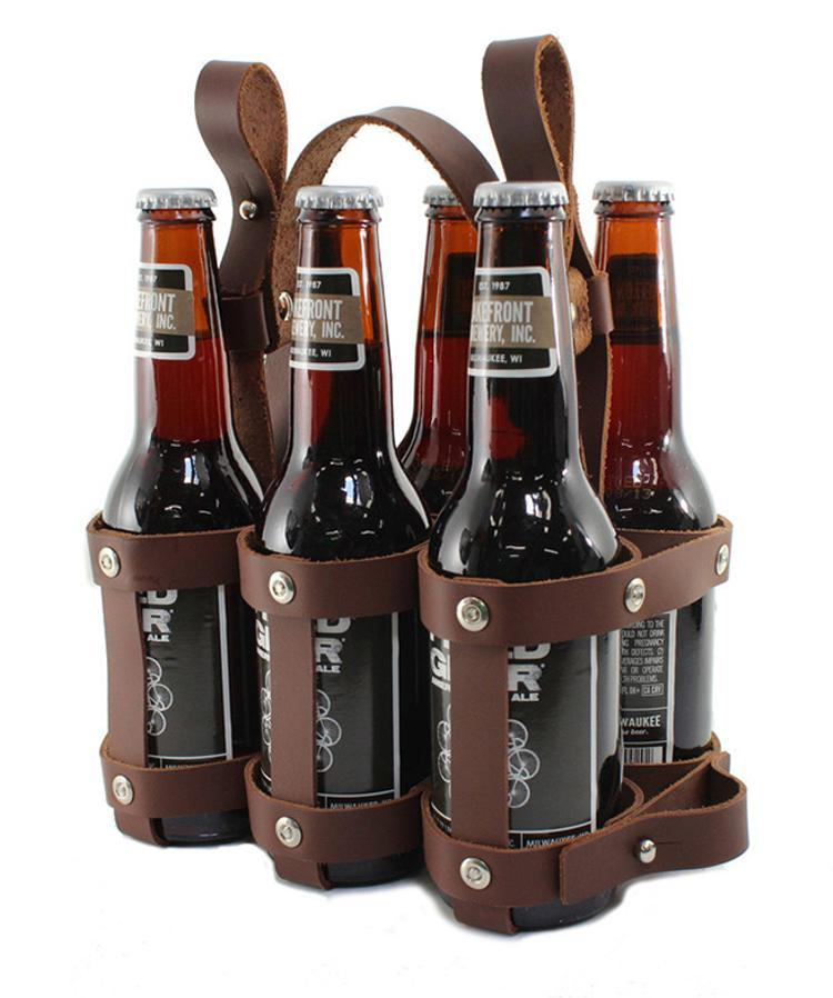 Fyxation: Leather Six Pack Caddy
