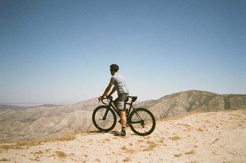 Superdomestik overlooking the arid landscape.