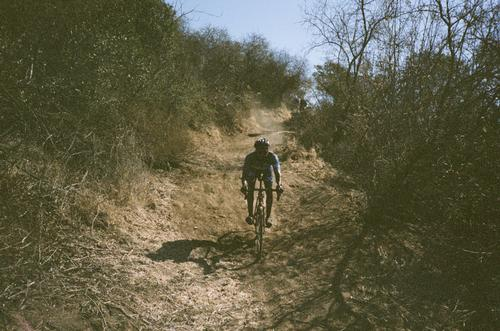 Betty B. Dearing has one of my favorite bits of singletrack. You control skid down this steep section.
