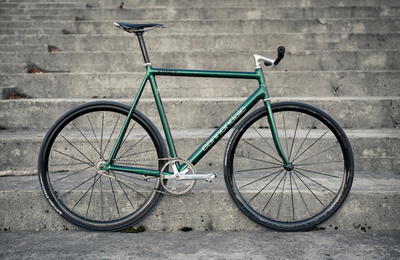 Kim Heikkinen: Green Cannondale Track