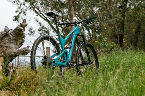 My ride: a Yeti SB95c - light - fast - and blue!