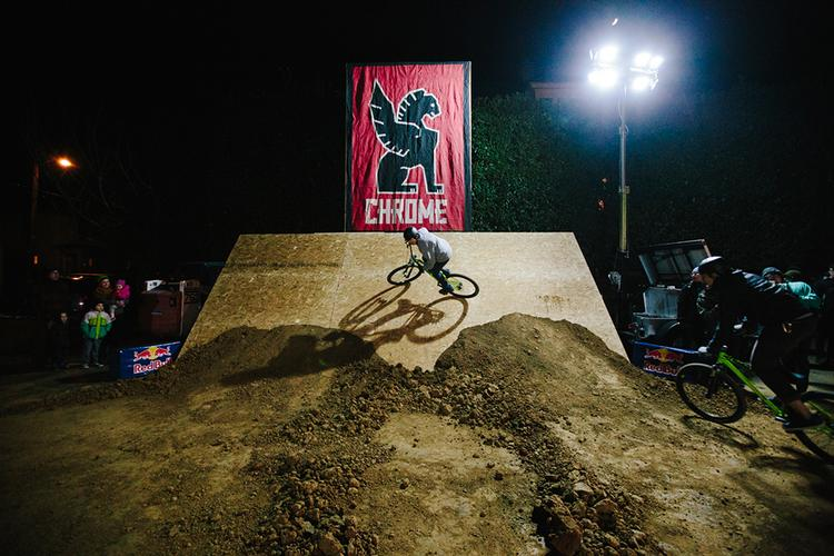 Brenton Salo at the Dirty Doubles Pumpish Track Race