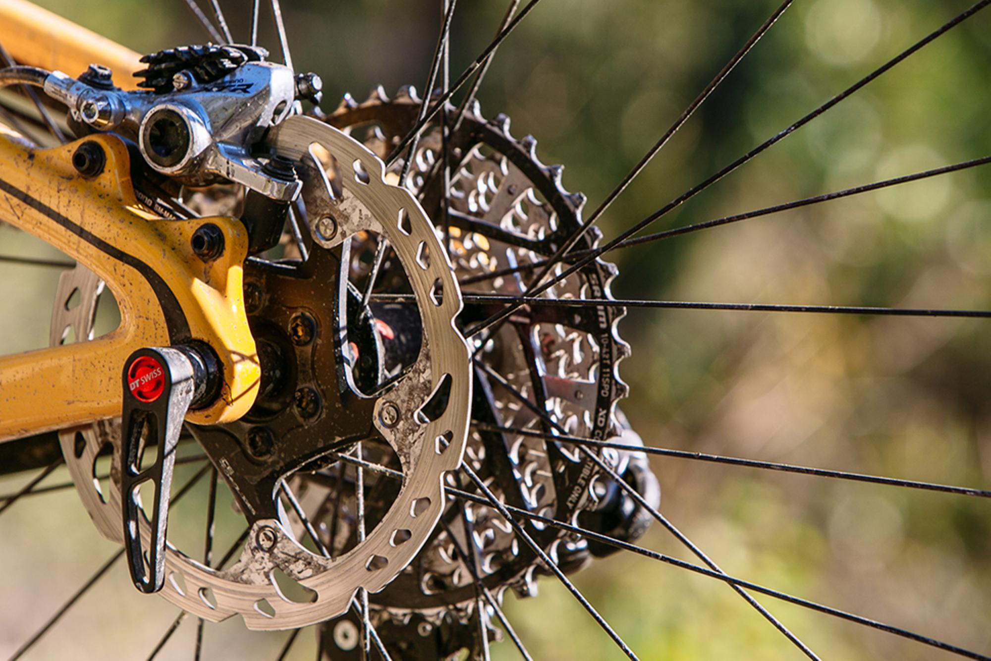 The cassette is the same size as the rotor!