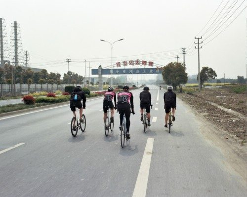 Shot from a Moving Bicycle 04 - The roads were mostly empty in the industrial areas.