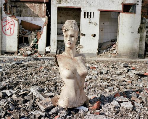 Portrait 01 - This mannequin was standing along in a freshly-demolished lot.