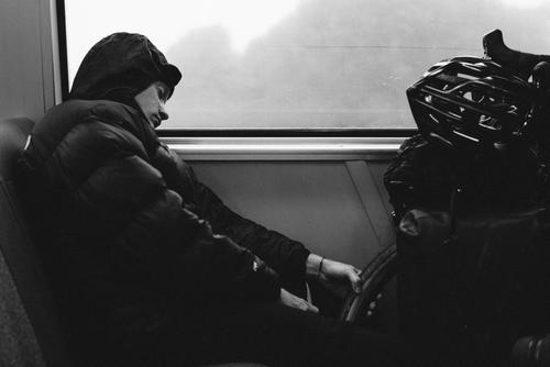 Once at Dublin, we got on the train and headed back to the city. Erik had a high fever.