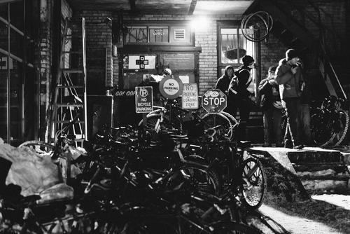 Bike stacks.