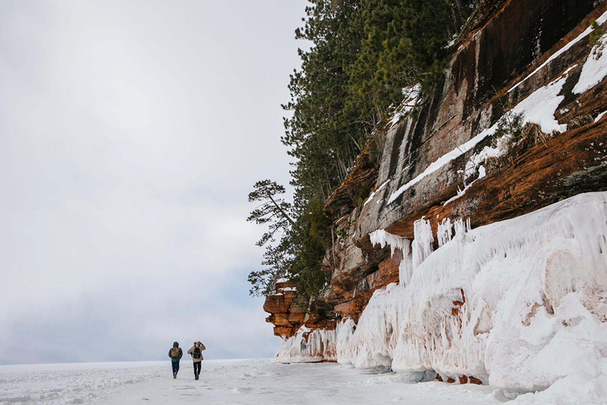 Rad Reportage: Exploring the Frozen Apostle Island Sea Caves