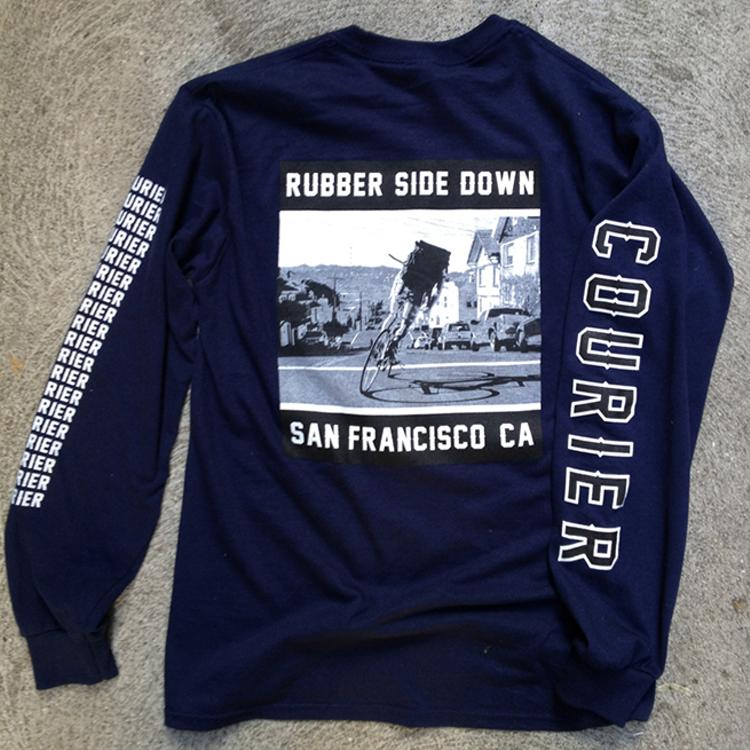 TCB Courier: Rubber Side Down Long Sleeve