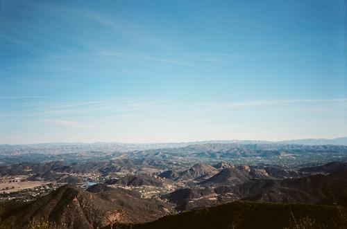 The Santa Monica mountain range.