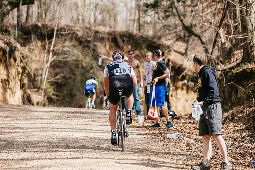 The second feed zone was at the top of the third dirt section.