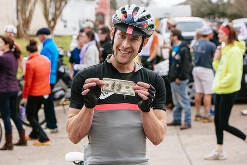Ben won the $100 KOM prime.