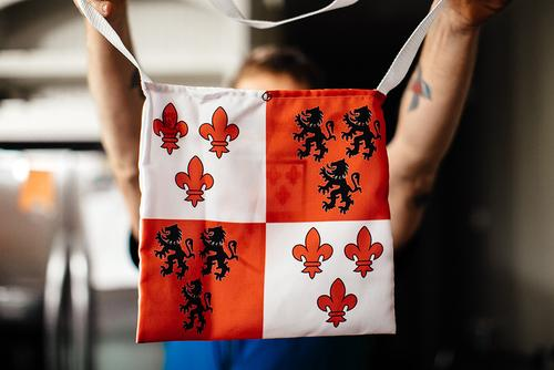 The Rouge Roubaix musette...