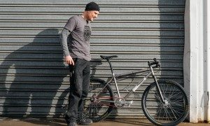 Darren and a 10-year old Baum SS MTB.