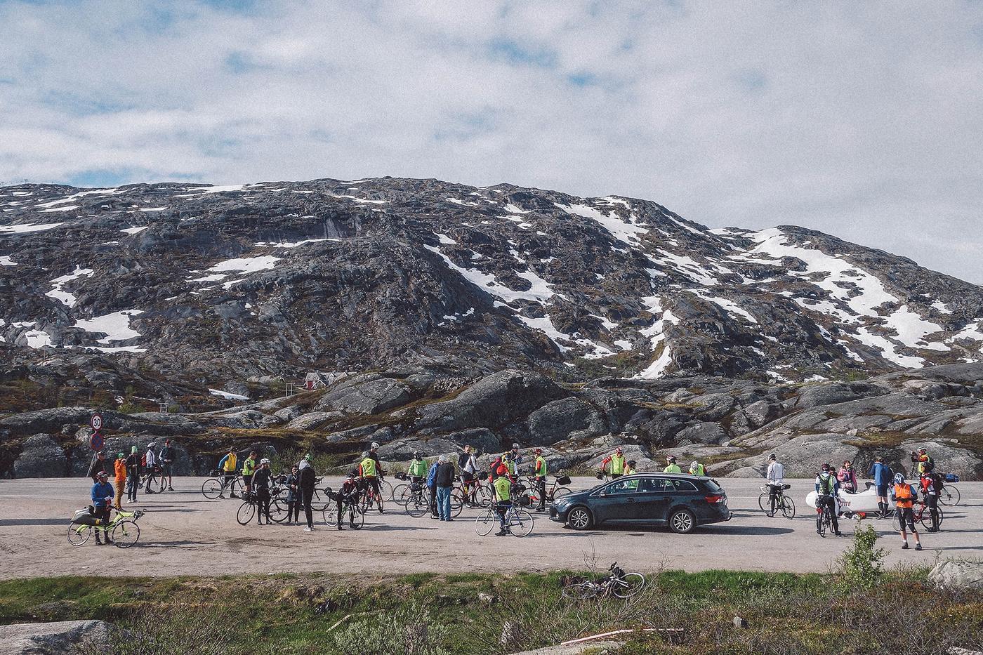 At the start in Riksgränsen.