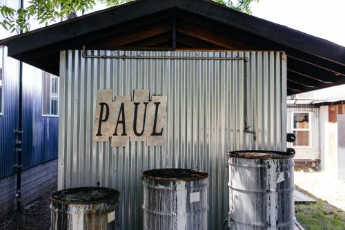 Paul's facilities were an old Texaco station that has since been cleaned up...