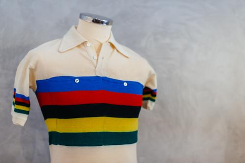 This jersey is from 1953 and just recently came into De Marchi's possession again.