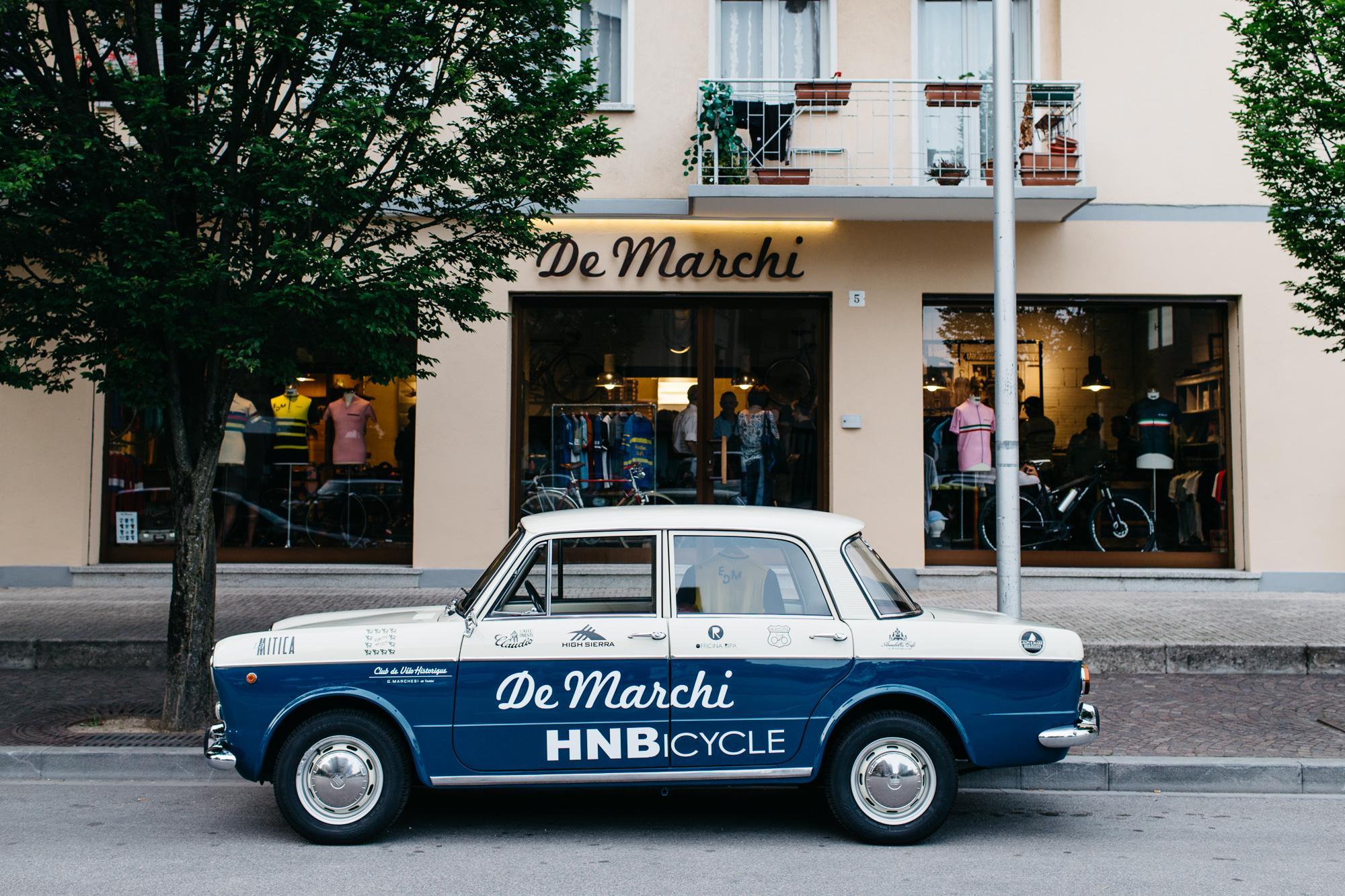 De Marchi's storefront in Conegliano, Italy.