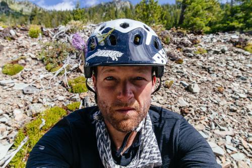 ... in my helmet.