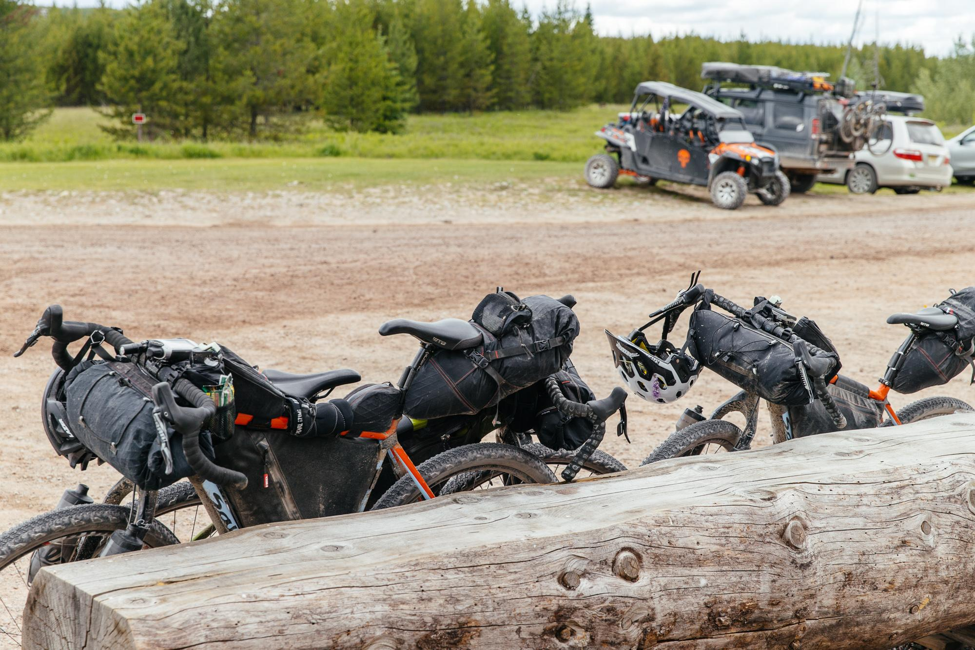 True expedition vehicles with some toys in the background.