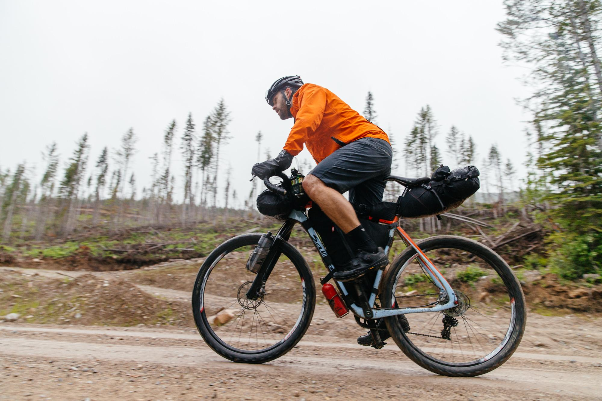 Climbing the last logging road