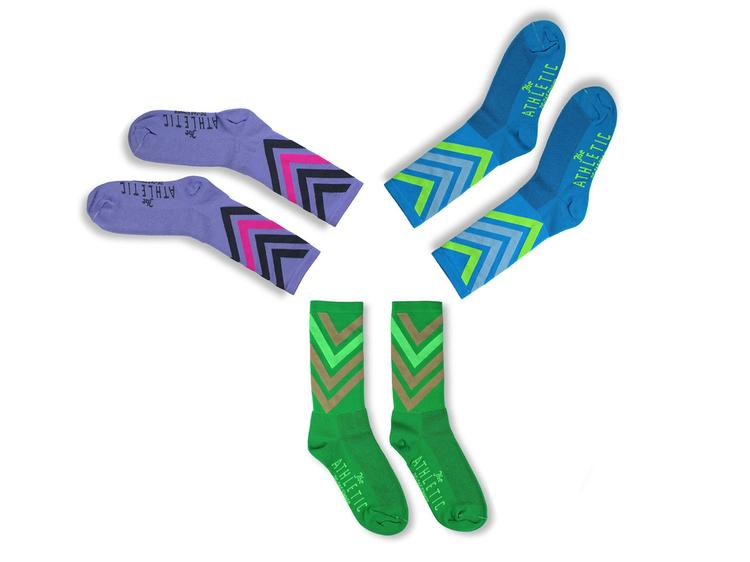 The Athletic: Zig Zag Summer Socks