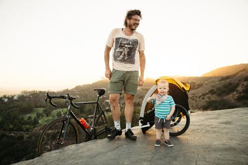 Bryan and his son on their Speedvagen!
