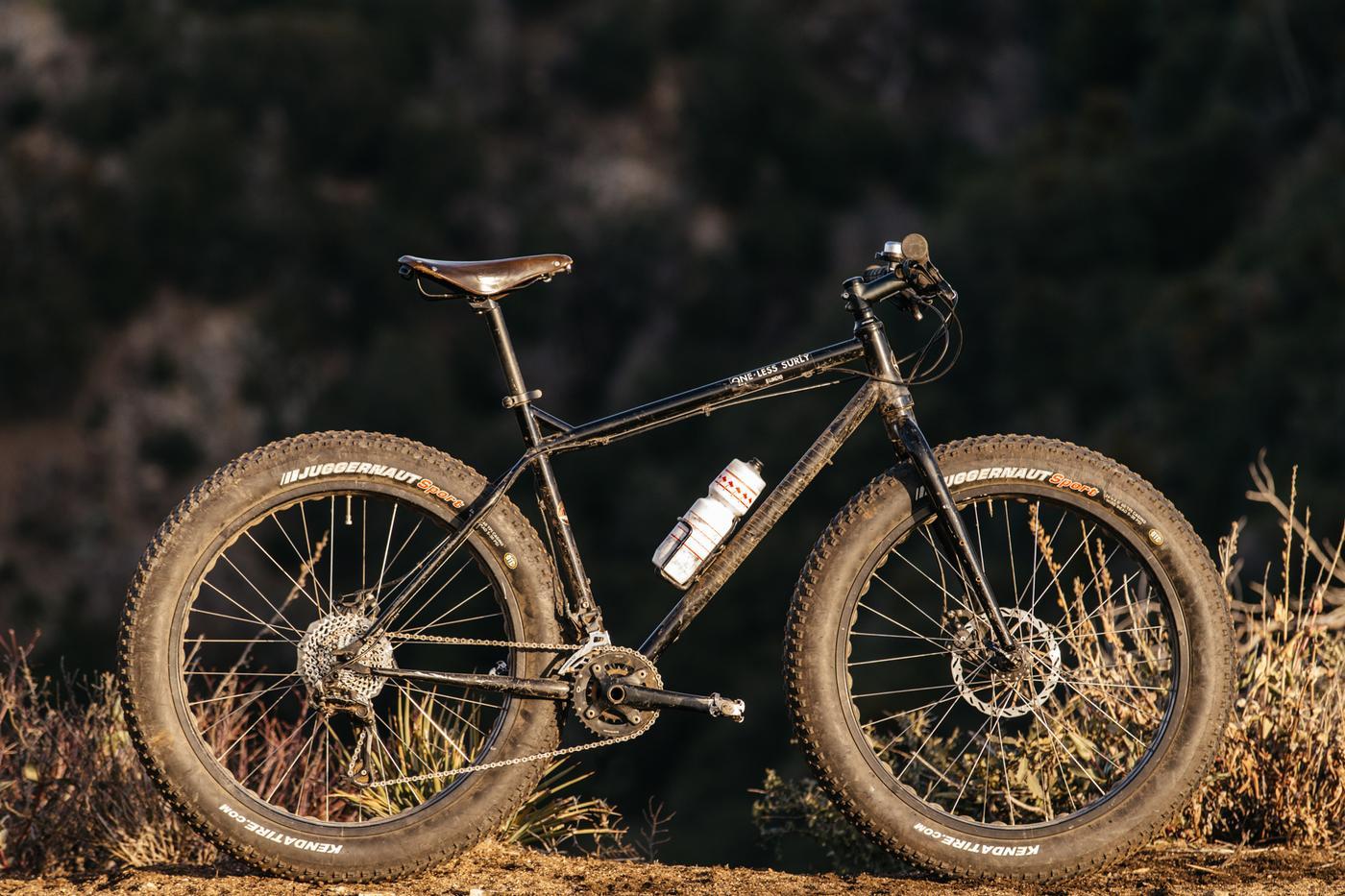 Spencer's Motobecane Fatbike on Strawberry Peak
