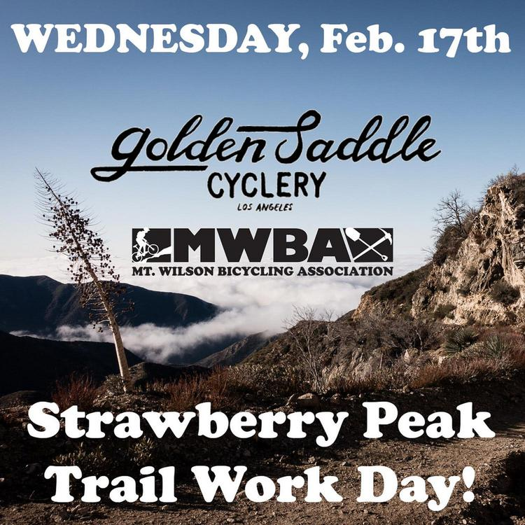 This Wednesday: Golden Saddle and MWBA Trail Work on Strawberry Peak