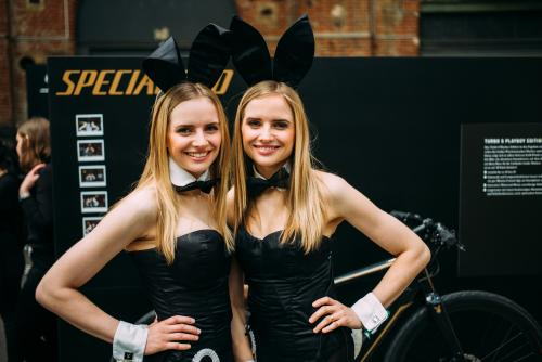 Specialized brought Playboy bunnies. Sigh.