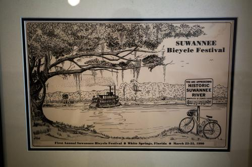 Evidence of early bike culture existence in Northern Florida.