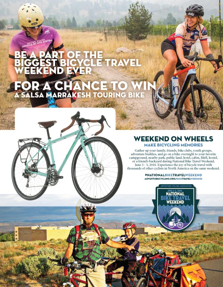 Win a Special Edition Salsa Marrakesh Touring Bike from Adventure Cycling Association