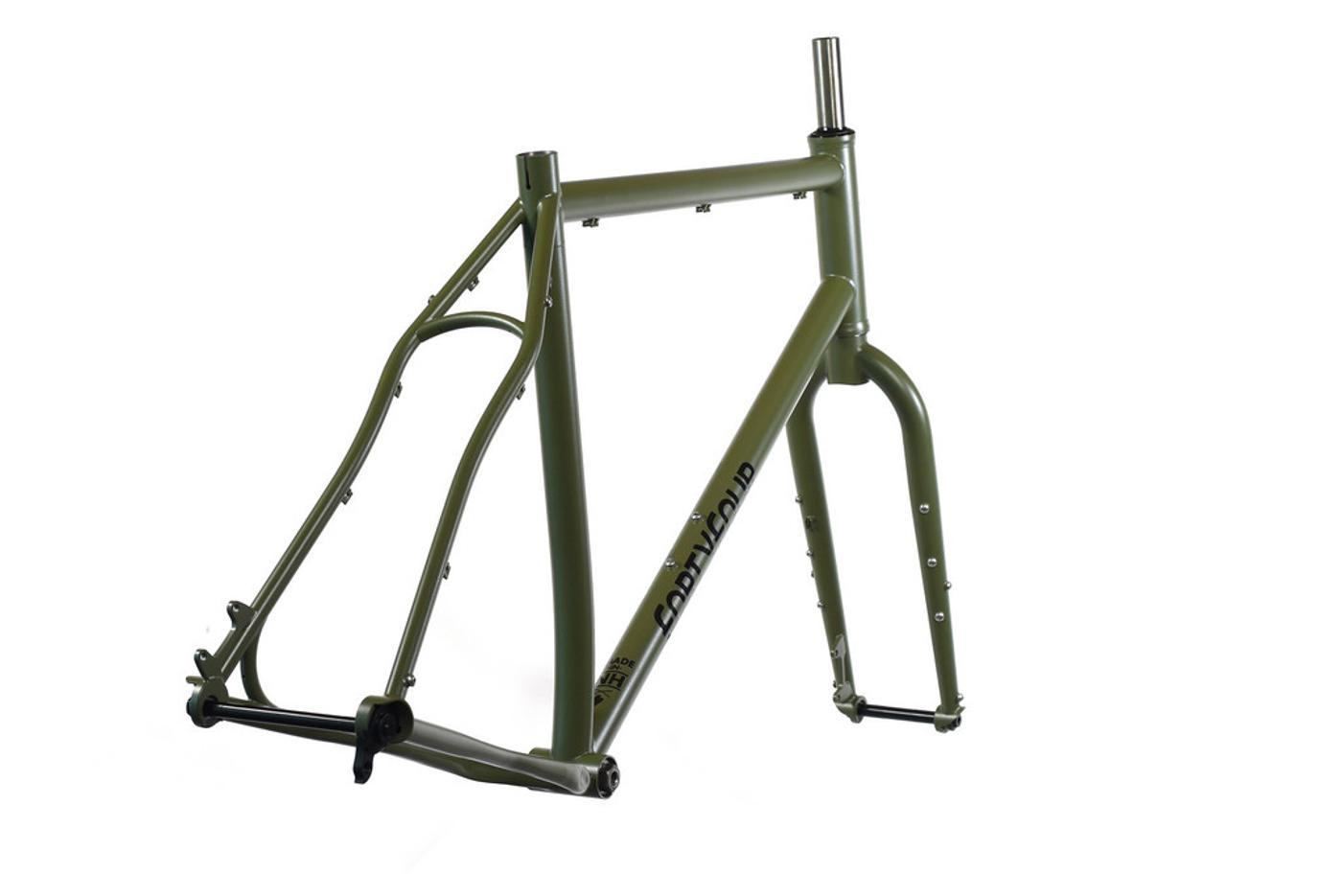 Ryan Wilson's New 44 Bikes Olive Drab 27.5+ Bikepacking Rig