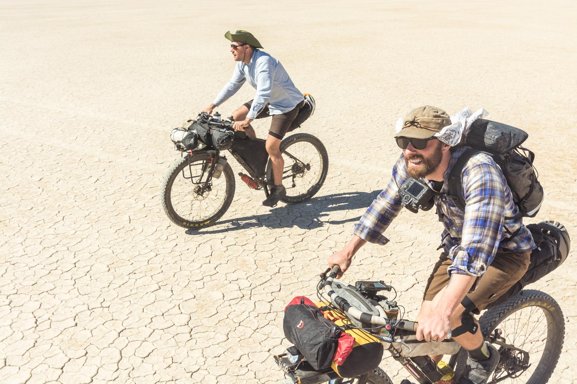 Finding our way across the expanse of the Alvord Desert
