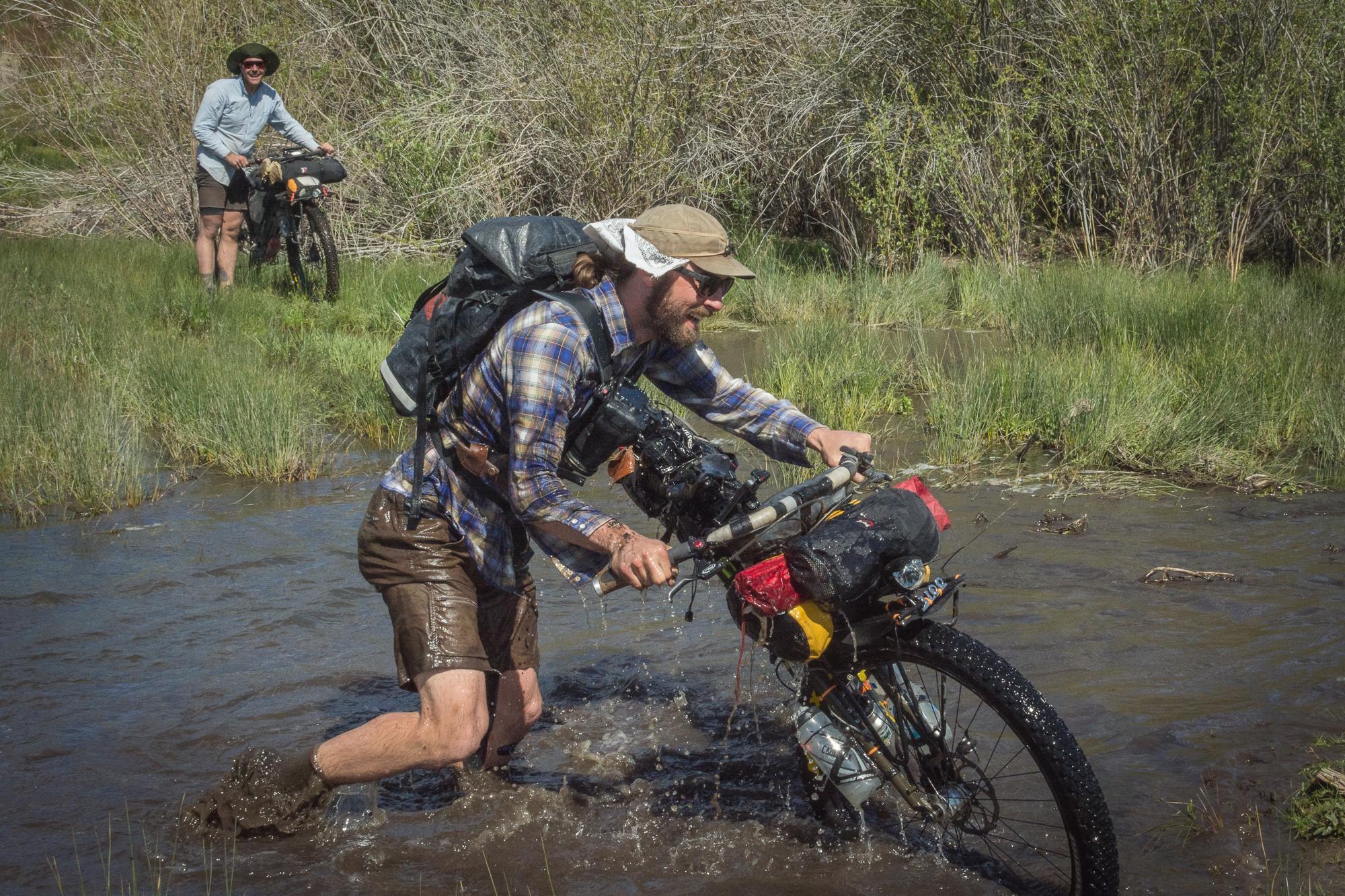 Didn't quite nail this creek ford!