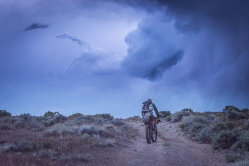Riding through a freak desert storm