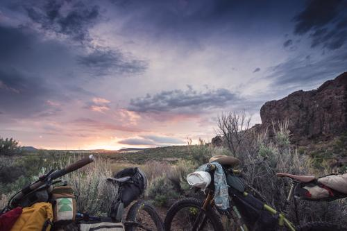 Riding into Virgin Valley at Dusk