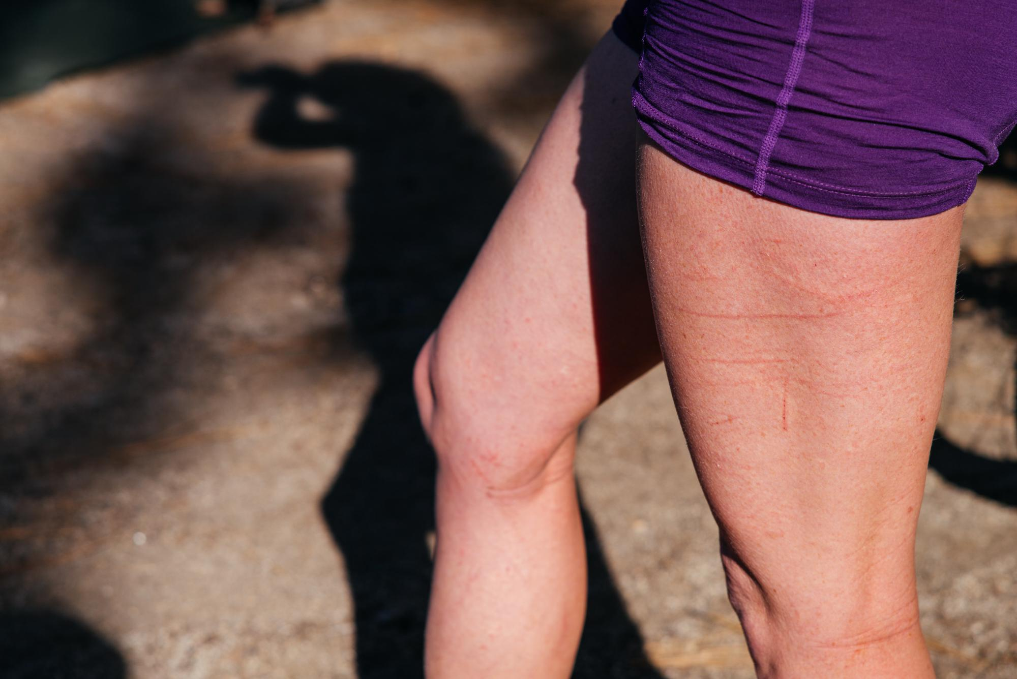 Cari's legs.