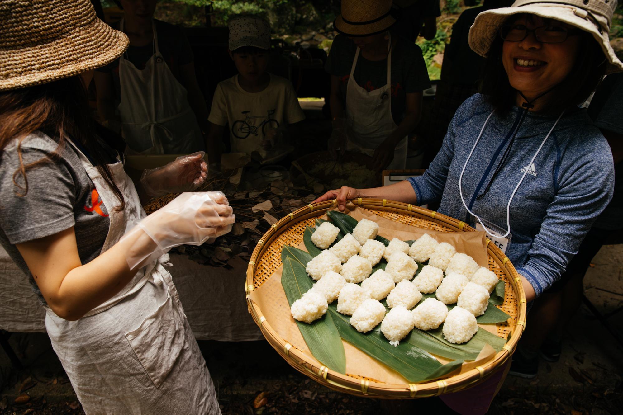 Asuke-grown rice balls