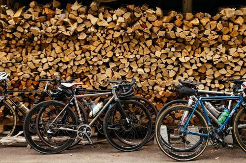 BBQ wood and damn fine bicycles.