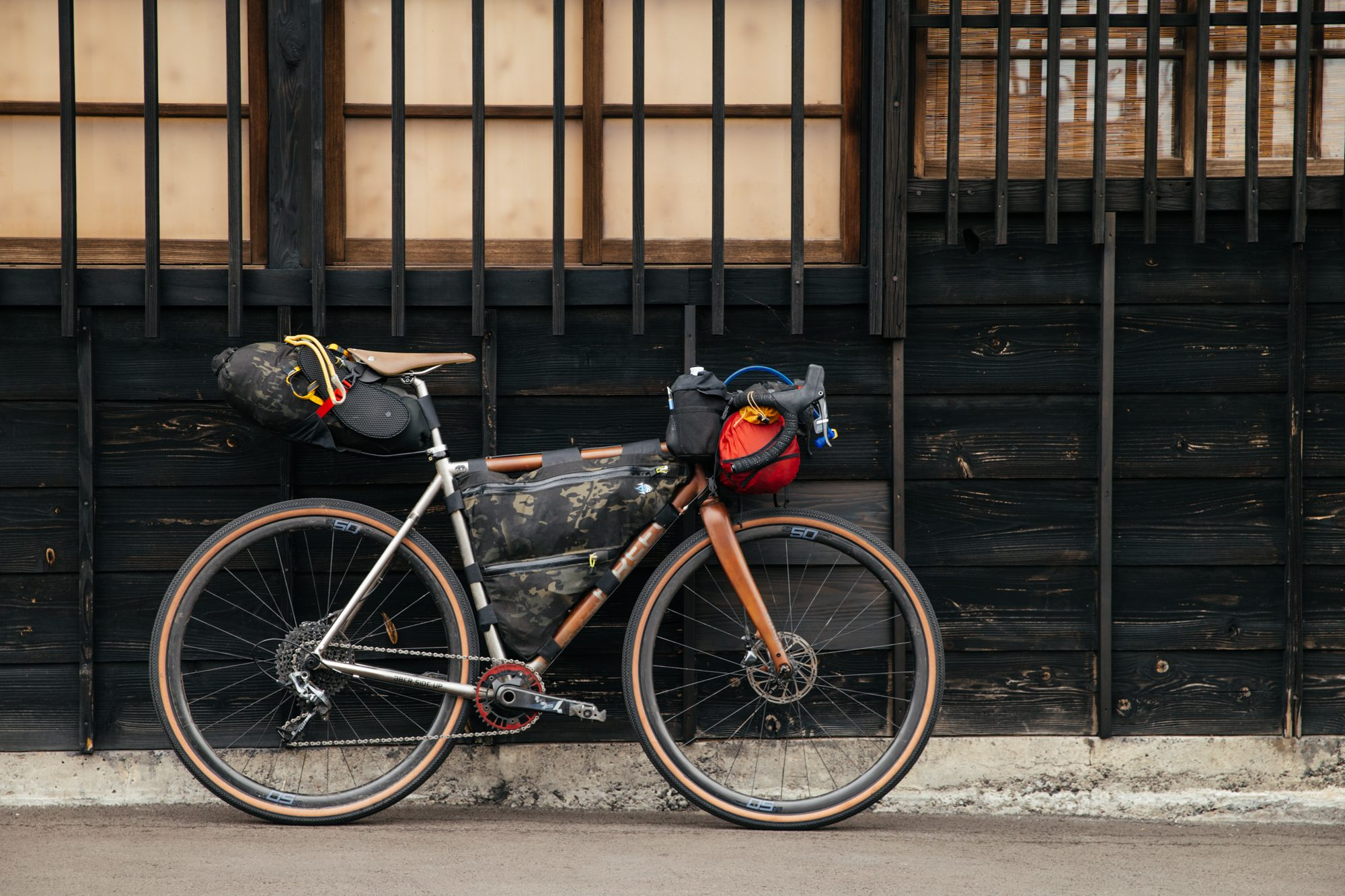 My Firefly loaded up for five days of self-supported touring, with weather ranging from 40º and rainy to 85º and humid.