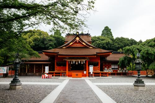 This shrine was constructed to appease the god Mount Fuji during an eruption.
