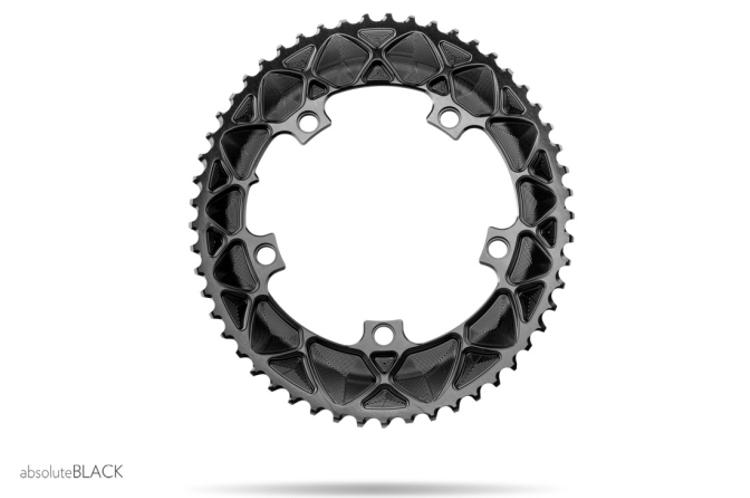 Absolute Black: Oval 2x Road Rings