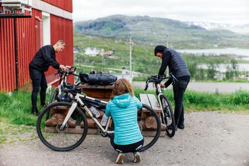 Assembling bikes.