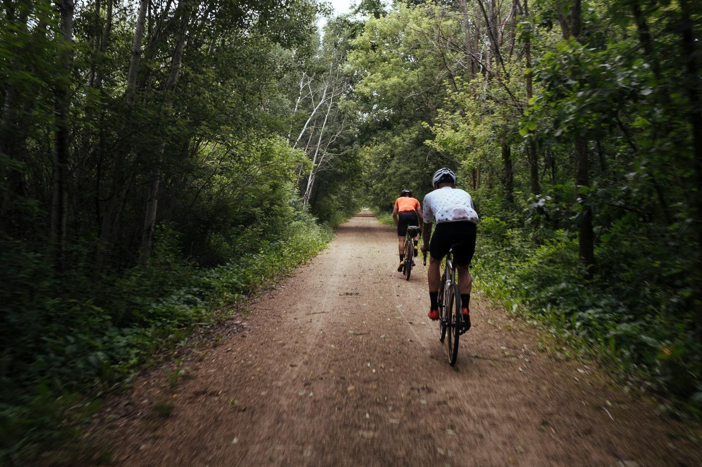 Bike trails exiting Minneapolis.
