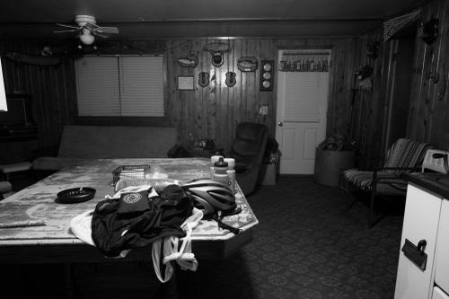 The cabin that was offered to me. The walls reeked of stale cigarettes and musty   furniture. Halsey Lake, WI