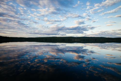 Sky and still lakes