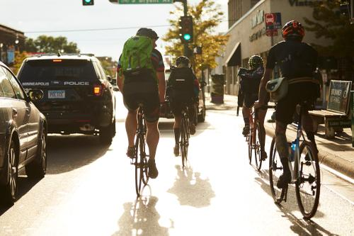 Alleycat - Crew leaving Bryant-lake Bowl